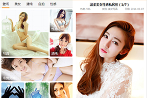 手机WAP性感美女图片资源网站模板下载